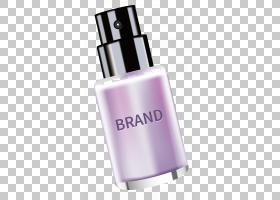 化妆品制作,向上欧几里得,紫色奶油PNG剪贴画香水,防晒霜,奶油矢