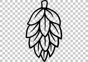 啤酒印度淡啤酒苦涩啤酒花,跃点PNG剪贴画叶,单色,对称性,花,苦,