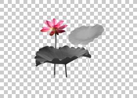 中国国画艺术水墨画,莲花PNG剪贴画水彩画,墨水,叶子,中国风,电脑