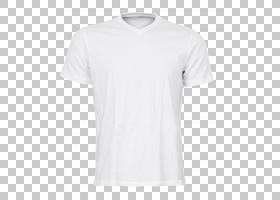 T恤泽西袖,白色T恤,白色V领T恤PNG剪贴画T恤,黑色白色,活跃衬衫,