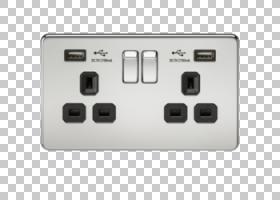 电池充电器交流电源插头和插座电气开关USB闭锁继电器,USB PNG剪