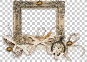 纸设计师数字剪贴簿,复古手表丝带装饰边框PNG剪贴画边框,功能区,