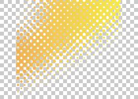 纺织印花半色调,黄色渐变背景点大小,黄色和蓝色ombre PNG剪贴画