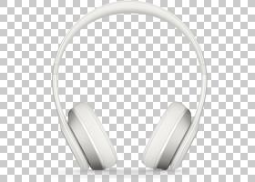 耳机Beats Solo 2 Beats电子音响,白色耳机PNG剪贴画黑白色,音频