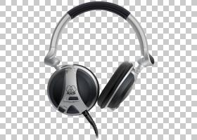 耳机电子设备耳机,AKG耳机,黑色和灰色AKG有线耳机PNG剪贴画麦克