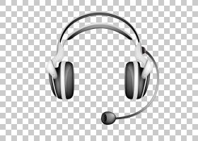 耳机耳机,黑色耳机模型PNG剪贴画名人,黑色头发,黑色白色,封装Pos