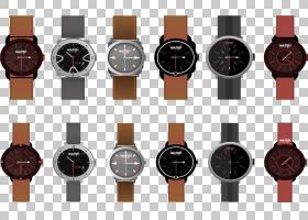 表带表带表带石英钟,皮表带手表PNG剪贴画电子产品,手表配件,皮革