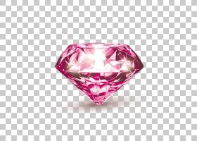 运气研讨会钱包灵性护身符,粉红色钻石图案PNG剪贴画宝石,心脏,命