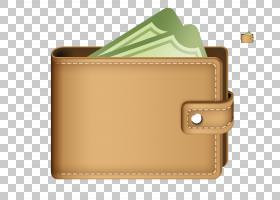 钱包钱图标,3D钱包PNG剪贴画棕色,矩形,皮革,3d箭头,3d字体,3d背