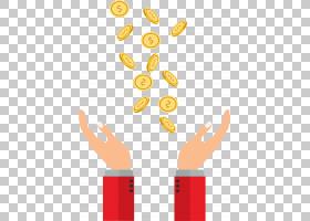 飞行硬币,分散的硬币PNG剪贴画文本,金币,手,手,封装的PostScript