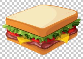 汉堡热狗潜水艇三明治花生酱和果冻三明治,三明治,三明治PNG剪贴
