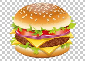 汉堡热狗芝士汉堡快餐,汉堡包,汉堡包PNG剪贴画食品,芝士汉堡,美