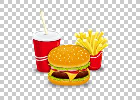 汉堡热狗薯条快餐芝士汉堡,汉堡和薯条PNG剪贴画png材料,食品,海