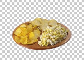 汉堡爆米花法式炸薯条垃圾食品快餐,爆米花芯片PNG剪贴画食品,早