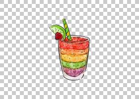冰沙茶鸡尾酒早餐食谱,彩色杯子与沙冰PNG剪贴画玻璃,颜色飞溅,食