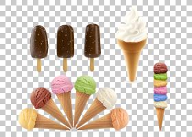 冰淇淋甜筒圣代冰淇淋,冰淇淋,牛奶冰淇淋棒棒糖PNG剪贴画奶油,食图片