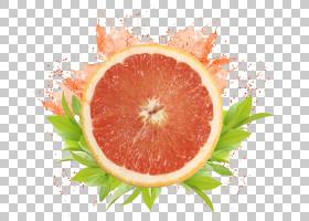 润唇膏葡萄柚汁化妆品唇彩,葡萄柚水果装饰拉材料PNG剪贴画天然食