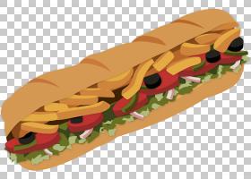 潜水艇三明治古巴三明治Pilgrim熟食地铁,三明治的PNG剪贴画食品,
