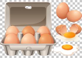 炒鸡蛋盒,破碎的鸡蛋PNG剪贴画食品,摄影,蛋壳,生日快乐矢量图像,