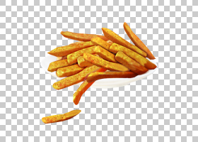 炸薯条土豆片垃圾食品小吃,办公室小吃烫手山芋片PNG剪贴画食品,