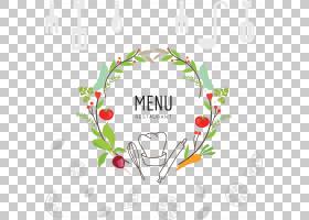 烤宽面条素食菜肴意大利面烹饪食品,手绘食品菜单PNG剪贴画爱,水