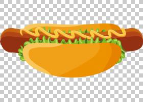 热狗香肠快餐,西式快餐热狗PNG剪贴画食品,中式风格,橙色,徽标,生