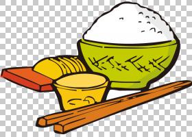 煮熟的饭碗筷子,创意筷子饭碗PNG剪贴画食品,封装PostScript,材料图片