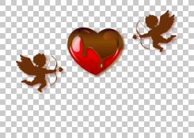 爱丘比特巧克力,爱巧克力丘比特PNG剪贴画食品,心,装饰,爱情侣,弓