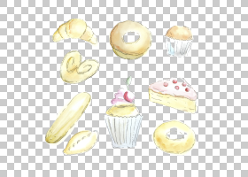 甜甜圈羊角面包蛋糕奶油面包面包,蛋糕羊角面包PNG剪贴画奶油,食