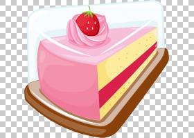生日蛋糕层蛋糕结冰巧克力蛋糕樱桃派,一层三明治蛋糕PNG剪贴画奶