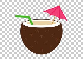夏威夷Luau的美食,热带鸡尾酒的PNG剪贴画食品,餐具,草裙舞,夏威