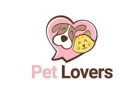 创意扁平化卡通猫狗logo