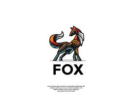 创意机械狐狸卡通个性图标logo