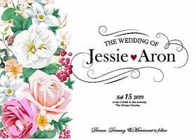 创意手绘水彩花卉背景矢量图图片