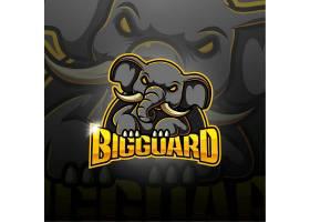 创意卡通动物大象形象个性图标logo4图片