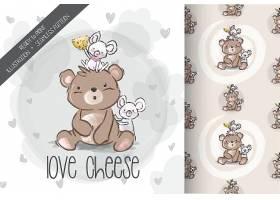 创意可爱动物元素装饰画插画设计图片