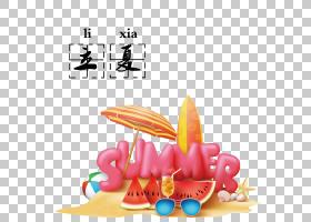 卡通夏季水果背景立夏PNG素材