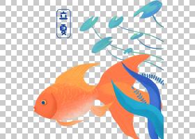 可爱金鱼背景立夏PNG素材