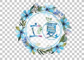 花环与花卉文字设计立夏PNG素材