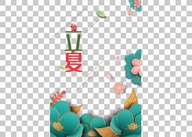 韩系风花朵背景立夏PNG素材