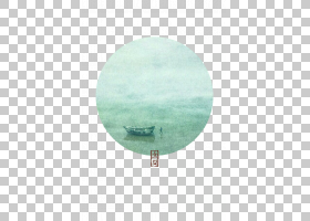 沙滩与船背景立夏PNG素材