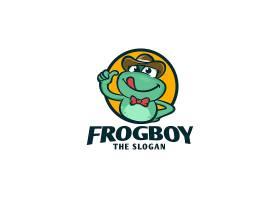 卡通蛙类形象创意LOGO设计