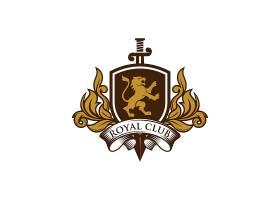狮子盾牌形象创意LOGO设计