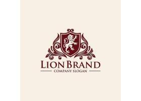 欧式花纹狮子形象创意LOGO设计