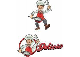 卡通厨师标志设计