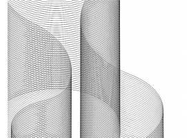 创意流动的排列整齐线条矢量背景