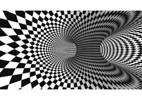 黑白格幻觉立体背景装饰图案图片