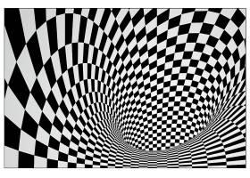 黑白格幻觉立体背景装饰图案