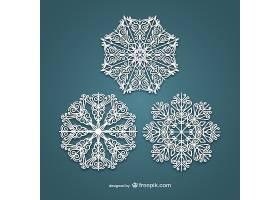 创意雪花花纹标签装饰图案设计