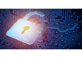 锁头创意大数据信息化科技芯片背景